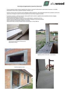 Przykładowa instrukcja przygotowania otworów okiennych pdf 212x300